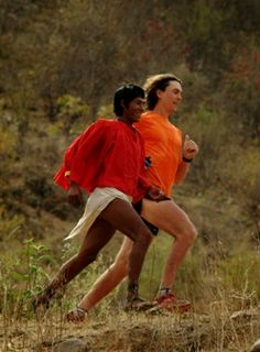 Tarahumara runner training Scott Jurek. One day I will run like them! Gorgeous.