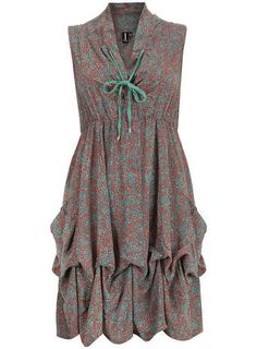Izabel London Multi Green Ditzy Print Dress