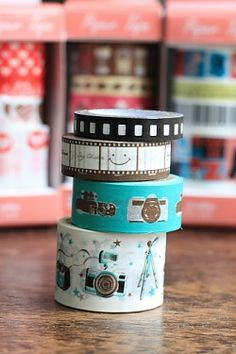 Cute Masking Paper Tape Set - Camera. http://www.yozocraft.com/