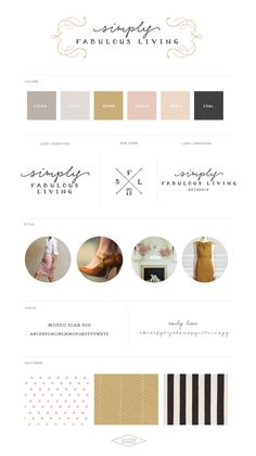 Logo and Blog Design :: Simply Fabulous Living :: Saffron Avenue