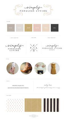 Logo and Blog Design :: Simply Fabulous Living :: Saffron Avenue