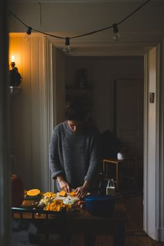 Ell: Smells good Lee!  He lets out a hearty chuckle and strides over to the kitchen.  Lee: Yeah.  She whispers breathily, her body shaking.  Ell: What, are you cold?  Lee: No, no I've got my sweater.  She slides him the plate of food and plops down in the chair across from him, her plate empty.