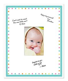 Loving this White & Blue Scallop Autograph Frame on #zulily! #zulilyfinds