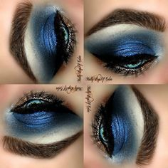 Bloooze - #blueshadow #bluemakeup #eyeshadow #eyemakeup #eyes #blue #mollypopsofcolor - bellashoot.com / bellashoot iPhone app
