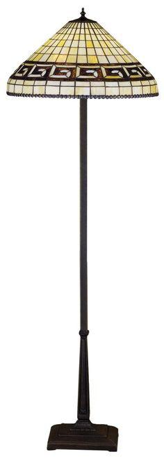 "Meyda 29503 - 62""H Greek Key Floor Lamp"
