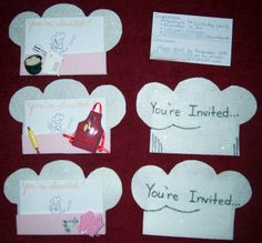chef hat birthday invitation | ... arrived, I led them to a table with their own apron and chef hat