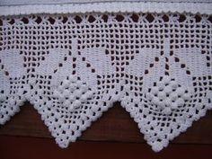 Crochet Edging Patterns, Crochet Borders, Filet Crochet, Crochet Designs, Crochet Doilies, Crochet Lace, Hairpin Lace, Christen, Chrochet