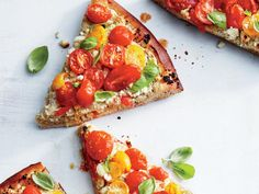 Bright and herbaceous flavors take a leading role in this ricotta-based pie. Succulent roasted tomatoes add sweet contrast to nutty pesto...