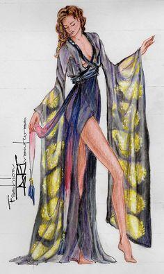 Kate Winslet's/ Rose 's Kimono Titanic 2012