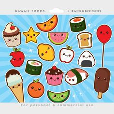 Cute food clipart kawaii clip art Japanese by WinchesterLambourne