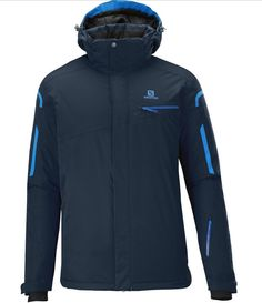 Salomon Snowboarding Gear Supernova Jacket Big Blue Blue Men - Active fit insulated jacket with classic features and clean, street style, active fit and tons of value in this classic, insulated climaPRO™ jacket.