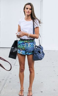 Alessandra Ambrosio's Aquatic Shorts