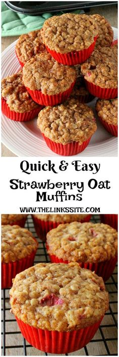 If you�re looking for an easy strawberry muffin recipe you can�t go past these delicious Strawberry Oat Muffins! thelinkssite.com