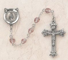 $28.74 + $9.25 shipping - Heritage Italian Catholic Light Amethyst (June) Czech Birthstone Rosary Silver Oxidized 5mm Crystal Bead 1¼ Crucifix by Creed Jewelry, http://www.amazon.com/dp/B00CR6DJHG/ref=cm_sw_r_pi_dp_aQmKrb1ETA1F0