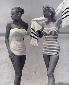 missretro-a-gogo: 1950s swimwear