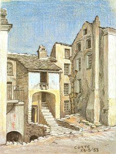 'Corte Korsika', öl von Maurits Cornelis Escher (1898-1972, Netherlands)