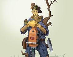 """Check out new work on my @Behance portfolio: """"Feller"""" http://be.net/gallery/52980005/Feller"""
