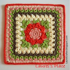 Blooming Granny. Free crochet pattern.
