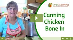 Learn home canning and fill your pantry with garden fresh produce. Home Canning, Canning Jars, Canning Recipes, Canned Meat, Canned Chicken, Canning Food Preservation, Preserving Food, Canning Vegetables, Chicken Bones