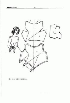 The best DIY projects & DIY ideas and tutorials: sewing, paper craft, DIY. DIY Women's Clothing : Chinese method of pattern making- Darts on a bodice - SSvetLanaV - Picasa Web Albümleri -Read Sewing Hacks, Sewing Tutorials, Sewing Projects, Techniques Couture, Sewing Techniques, Dress Sewing Patterns, Clothing Patterns, Pattern Sewing, Textile Manipulation