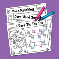 Check out some of our favorite Dora the Explorer coloring pages, activity packs, games and more! Birthday Club, Birthday Ideas, Coloring Books, Coloring Pages, Dora And Friends, Activities For Kids, Crafts For Kids, Dora The Explorer, Preschool Printables