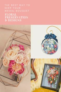Bridal bouquet flower preservation can include shadowboxes, jewelry boxes and keepsake ornaments. #flowerpreservation #weddingbouquetpreservation #weddingbouquets Freeze Dried Flowers, Flower Preservation, Flower Shadow Box, Memorial Flowers, How To Preserve Flowers, Bridal Flowers, Preserves, Wedding Bouquets, Decorative Boxes