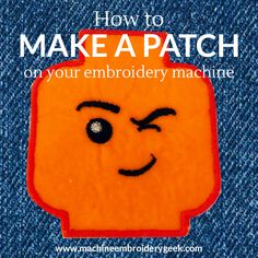 How to make a patch on embroidery machine - Machine Embroidery Geek - How to make a patch with your embroidery machine. It's easy to make an iron-on patch with almost - Diy Embroidery Machine, Machine Applique Designs, Brother Embroidery Machine, Iron On Embroidery, Types Of Embroidery, Embroidery Patches, Embroidery Machines, Modern Embroidery, Applique Embroidery Designs