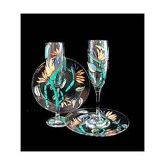Bird of Paradise Design Hand Painted Matching Set of Toasting Flutes and Cake Plates by Bellissimo. $78.92. Highly collectible, each piece of Bellissimo! is individually signed by the artist.. Bellissimo! is the manufacturer of America's Premier Hand Painted Glassware.. For generations of pleasure and enjoyment, hand washing is recommended for all Bellissimo! merchandise.. All Bellissimo! merchandise is exquisitely hand painted using an exclusively formulated non-toxic paint.. ...
