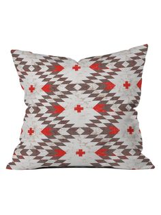Native Rustic Throw Pillow by DENY