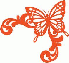 View Design #57463: butterfly corner flourish