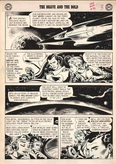 Joe Kubert - Brave and Bold #34 - The first ever appearance of the Silver Age Hawkman & Hawkgirl Comic Art