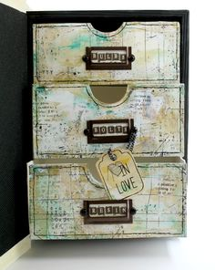 Altered Faux Book Box For Ingvild Bolme