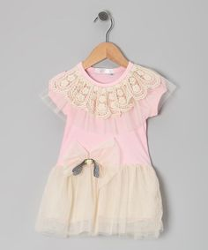 Take a look at this Pink Flower Ruffle Dress - Toddler & Girls by Butterflies & Moonbeams on #zulily today!