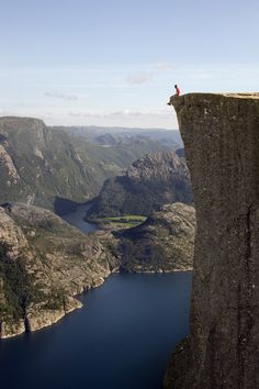 Preikestolen, Forsand, Norway: http://www.travelbrochures.org/193/europa/vacationing-in-norway