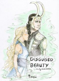 Loki and Sigyn - I wish they drew her with dark hair Loki And Sigyn, Loki Laufeyson, Loki Tv, Thor, Loki Mythology, Loki Drawing, Norse Goddess, Beaux Couples, Sketches