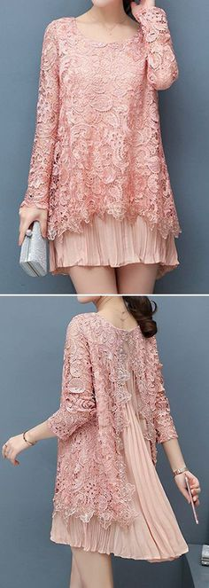 63 Ideas dress brokat lace simple for 2019 Trendy Dresses, Simple Dresses, Beautiful Dresses, Nice Dresses, Hijab Fashion, Fashion Dresses, Kebaya Lace, Kebaya Hijab, Kebaya Dress