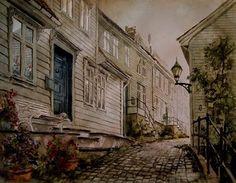 Kunstneren i Bergen: AKVARELLKURS I BERGEN 21 Juni, Bergen
