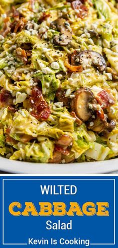 Bacon and Cabbage Salad is a warm side dish with a perfect balance of sweet, salty, and tangy flavors. Make this recipe with only 5 ingredients!