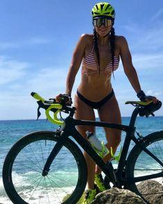 Looks Pinterest, Dirndl Dress, Female Cyclist, Cycling Girls, Bicycle Girl, Beauty Full, Bikinis, Swimwear, Biker