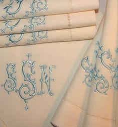 Beautiful monogrammed linens