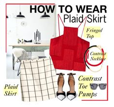 """""""How to Wear: Plaid Skirt"""" by asya-1 ❤ liked on Polyvore featuring Versace, Marni, H&M, Givenchy and Ksubi"""