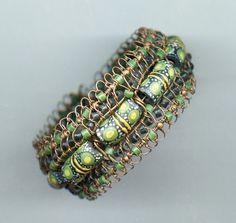 Bead Show: Bead Show Workshops & Classes: Friday June 7, 2013: B130644 Krobo Bead Cuff Bracelet