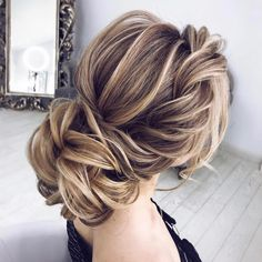 Gorgeous updo ,wedding hairstyles ,messy updo hairstyle ideas #hairstyle #updo #updohair #bridehair