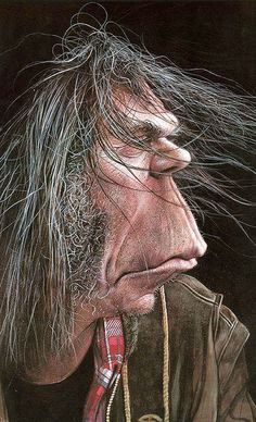 niel young caricature - Google Search