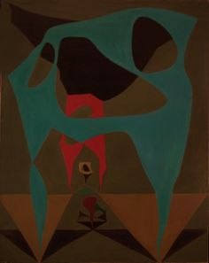"""Lorser Feitelson """"Magical Space Form"""", early 1940's via MIRIAM SLATER BLOG"""