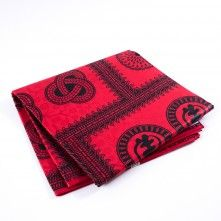 Black+and+Red+Waxed+Cotton+African+Print+with+additional+Inlaid+Print