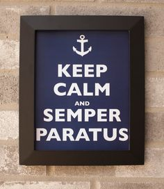 Keep Calm and Semper Paratus. Always Ready! Typography Poster. Instant Download Coast Guard Wall Art
