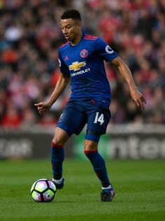 Jesse Lingard of Manchester United in action during the Premier League match between Middlesbrough and Manchester United at Riverside Stadium on March 19, 2017 in Middlesbrough, England.