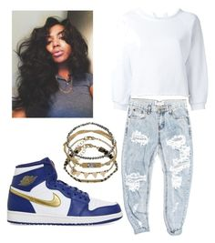 """""""I like em hood"""" by brejeasmith on Polyvore featuring Gaëlle Bonheur, OneTeaspoon, NIKE and Accessorize"""