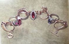 Re-purposed rings - neat idea for a necklace too.